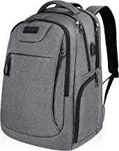 KROSER Laptop Backpack for 15.6-17.3 Inch Laptop Anti-Theft Large Computer Backpack with USB Charging Port Water-Repellent Casual Daypack for Travel/Business/School/College/Men/Women-Grey
