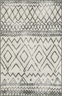 Maples Rugs Kitchen Rugs - Abstract Diamond 2'6 x 3'10 Distressed Style Non Skid Washable Throw Rugs [Made in USA] for Entryway and Bedroom, Neutral