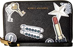 Marc Jacobs - Tossed Charms Saffiano Zip Phone Wristlet