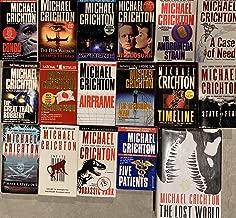 Michael Chichton Thriller Novel Collection 18 Book Set