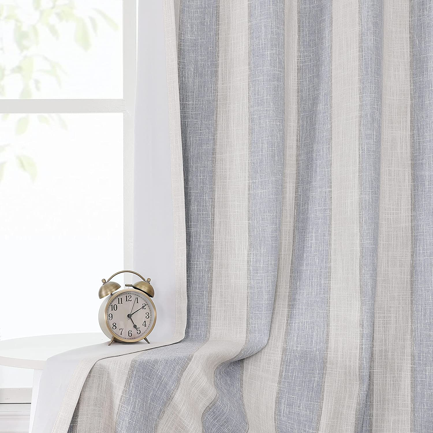 WEST Ranking TOP20 LAKE Blue 100% Blackout Farmhouse Ranking TOP5 Long Inches Th 84 Curtain