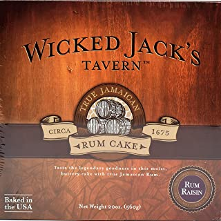 Wicked Jack's Tavern Jamaican Rum Cake (Rum Raisin, 20 Ounce