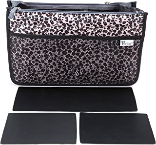 Periea Handbag Organizer - Chelsy - Premium Firm Range - 3 Colours Available - Small, Medium Large (Large, Gold Leopard)