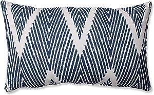 Pillow Perfect Bali Rectangular Throw Pillow, Navy