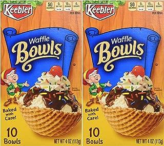 Keebler 10-Count WAFFLE BOWLS 4oz (2 Pack)