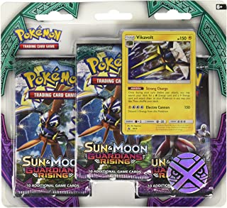 Pokemon TCG: Sun & Moon Guardians Rising, Blister Pack Containing 3 Booster Packs and Featuring A Special Turtonator Or Vikavolt Card