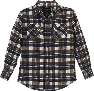 Boys Long Sleeve Plaid Checked Flannel Shirt