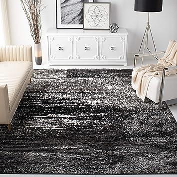 Amazon Com Safavieh Adirondack Collection Adr112a Modern Abstract Non Shedding Living Room Bedroom Accent Area Rug 4 X 6 Silver Black Furniture Decor
