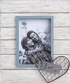 Precious Moments Farmhouse Decor Love Is Sweet Wood/Metal/Glass 5 x 7 Photo Frame 189914