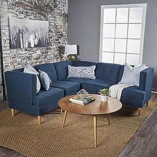 Pleasing Amazon Com Blue Couch Wood Living Room Sets Living Evergreenethics Interior Chair Design Evergreenethicsorg