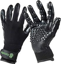 HandsOn Pet Grooming Gloves - Patented #1 Ranked, Award Winning Shedding, Bathing, & Hair Remover Gloves - Gentle Brush fo...