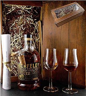 Geschenk Aberfeldy 12 Jahre Single Malt Whisky  Glaskugelportionierer  2 Bugatti Gläser