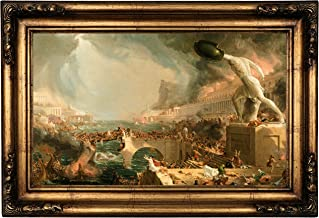 Historic Art Gallery The Course of Empire - Destruction 1836 by Thomas Cole Framed Canvas Print 12