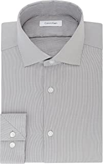 Calvin Klein Men's Dress Shirt Slim Fit Non Iron Stretch...