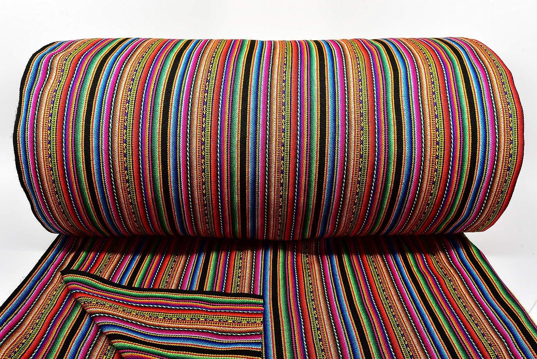 Traditional Peruvian Aguayo shipfree Fabric Oakland Mall Textile Yard Black by Handwov