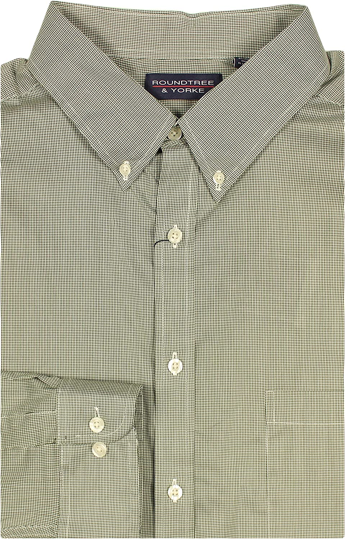 Roundtree & Yorke Performance Stretch Moisture-Wicking Men's Long Sleeve Shirt