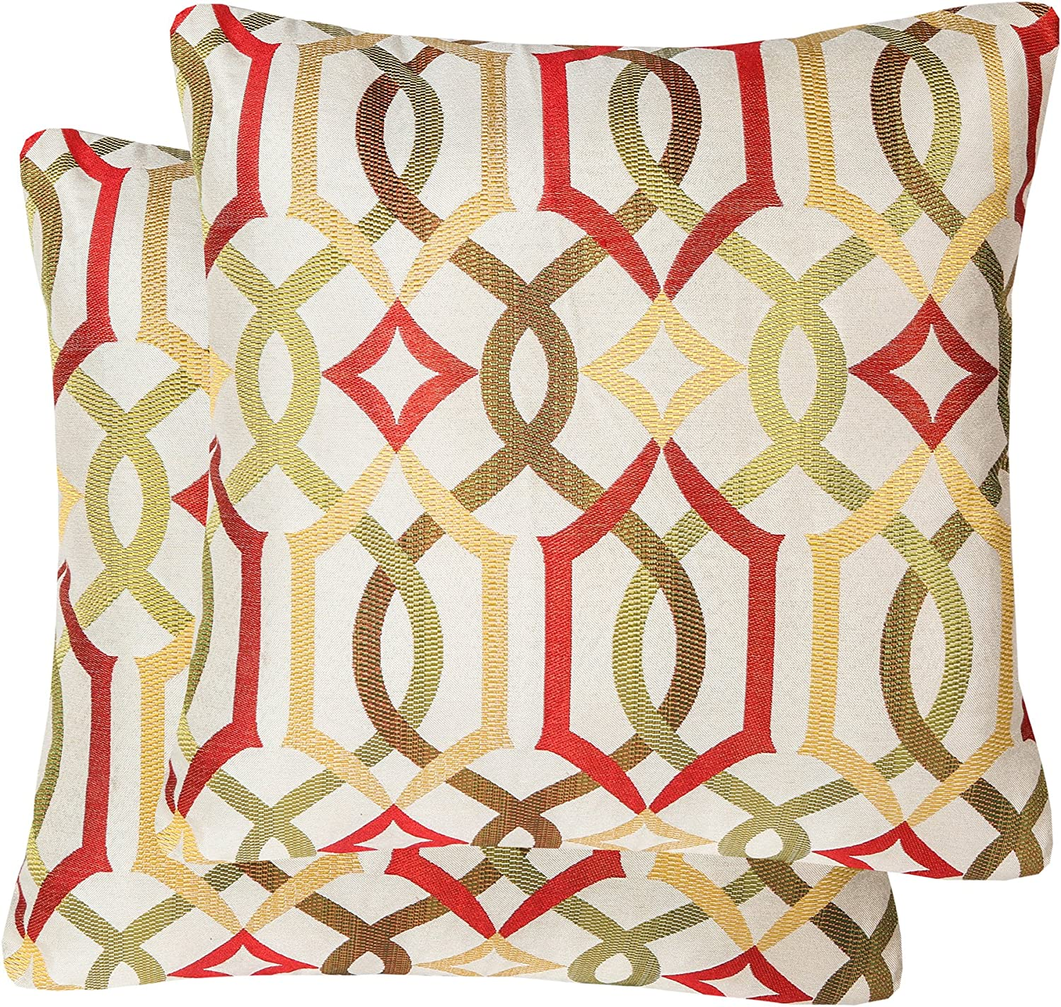 YUKORE Product Pack of Free Shipping New 2 Jacquard Geometric Cases Links Pillow Throw Dec