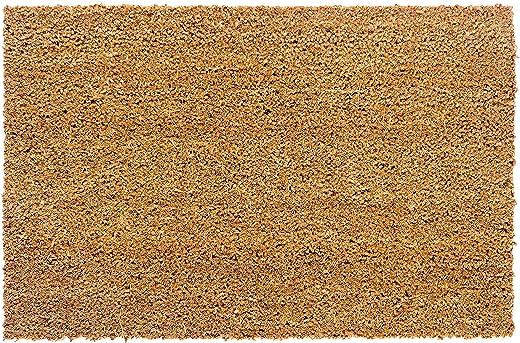 Carpido rutschfeste Kokosmatte – antibakterielle Fussmatte für den überdachten Außenbereich – nachhaltige Naturfaser – 100% Kokos – 40 x 60 cm – Natur