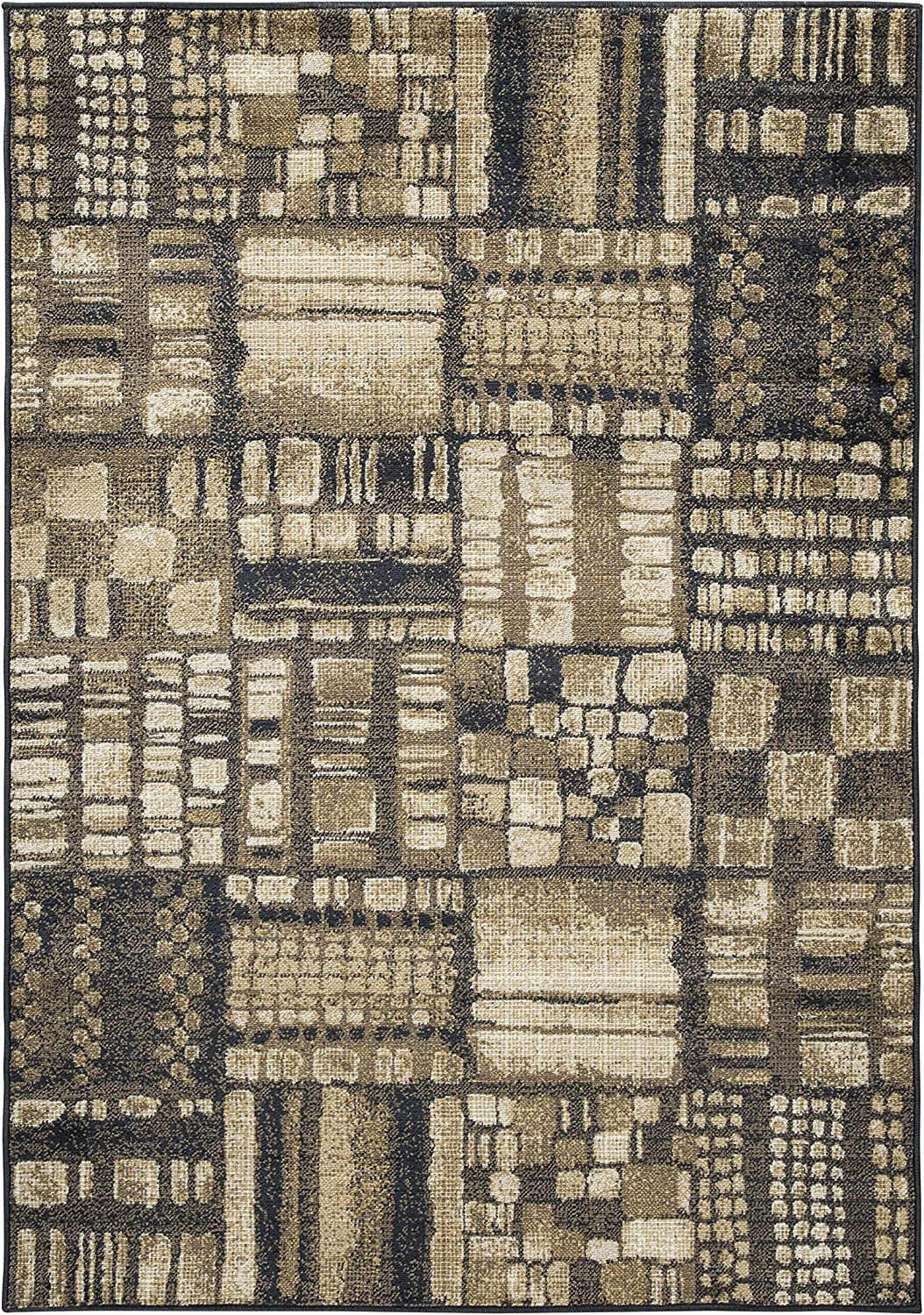 Ashley Furniture Hilliard 5' x 7' New sales Black Brown in and Bombing new work Rug