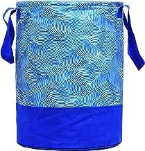 Kuber Industries Laheriya Printed Waterproof Canvas Laundry Bag, Toy Storage, Laundry Basket Organizer 45 L (Blue) CTKTC134625