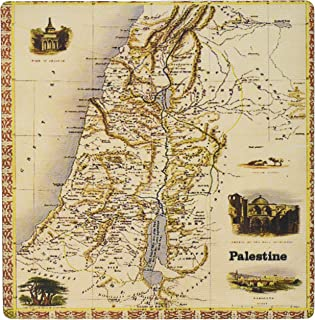 3dRose LLC 8 x 8 x 0.25 Inches Mouse Pad, Map of Palestine (mp_163622_1)