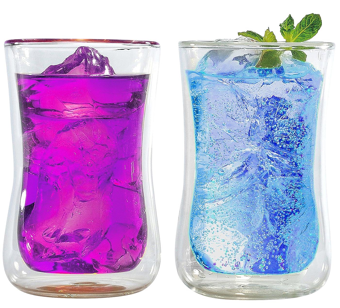 判読できないヶ月目まっすぐにするエムワールド ダブルウォール グラス タンブラー ペア セット 300ml ×2 耐熱 ガラス 仕様 プレゼント パッケージ 2個セット