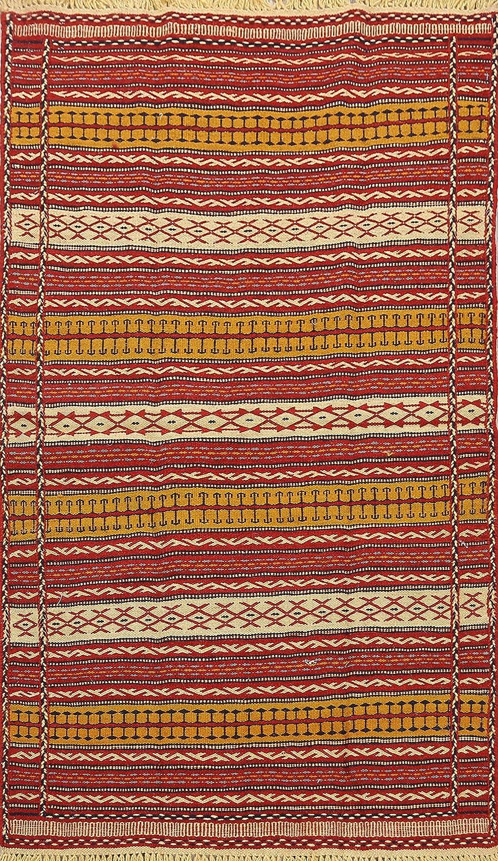 Geometric Kilim Oriental Milwaukee Mall Area Rug Ranking TOP1 3x5 Carpet Wool 3' Flat-Woven