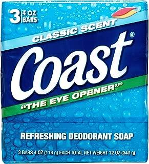 Coast Bar Soap Classic Pacific Force Scent - 3 CT