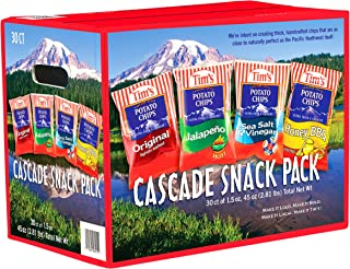 Tim's Cascade Style Potato Chips, Variety Pack, 30 Count