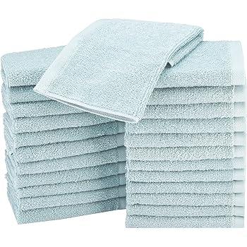 AmazonBasics - Paños de algodón (30,5 x 30,5 cm), pack de 24 - Azul claro: Amazon.es: Hogar