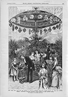 ENGRAVING: 'New York City--Fair For the Benefit of the St. Andrews'..from Frank Leslie's Illustrated Newspaper, 12/17/1887