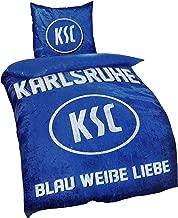 karlsruher SC Waschhandschuh 16x21cm Waschlappen Blockstreifen Fanartikel