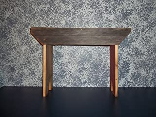 Rustic 2 Foot Barnwood Bench. This Country Bench Seats Varies in Width From 8 - 10