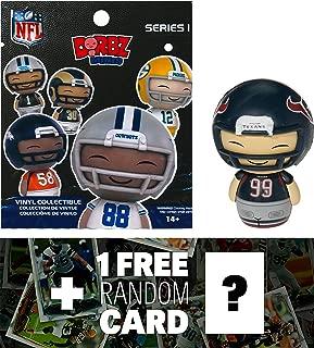 NFL JJ Watt - Texans: Funko Mini Dorbz x Micro-Figure Wave #1 + 1 Free Official Trading Card Bundle (103213)