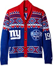 Klew New York Giants Men's NFL 2015 Ugly Sweater Cardigan