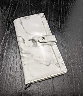 Marble Hobonichi Weeks Cover and Wallet Combination Faux/Vegan Leather