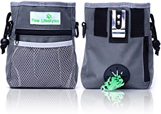 Best Paw Lifestyles – Dog Treat Training Pouch – Easily Carries Pet Toys, Kibble, Treats – Built-in Poop Bag Dispenser – 3 Ways to Wear – Grey Review