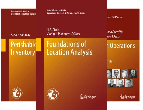 International Series in Operations Research & Management Science (50 Book Series)