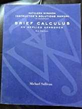 Instructor's Solutions Manual for Brief Calculus an Applied Approach