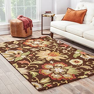 Jaipur Living Zamora Hand-Tufted Floral & Leaves Brown Area Rug (2' X 3')