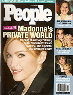 People Weekly April 28 2003 Madonna's Private World Working Marriage Raising Kids New Album Plastic Surgery?