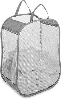 Whitmor Pop and Fold Laundry Bag, Paloma Gray