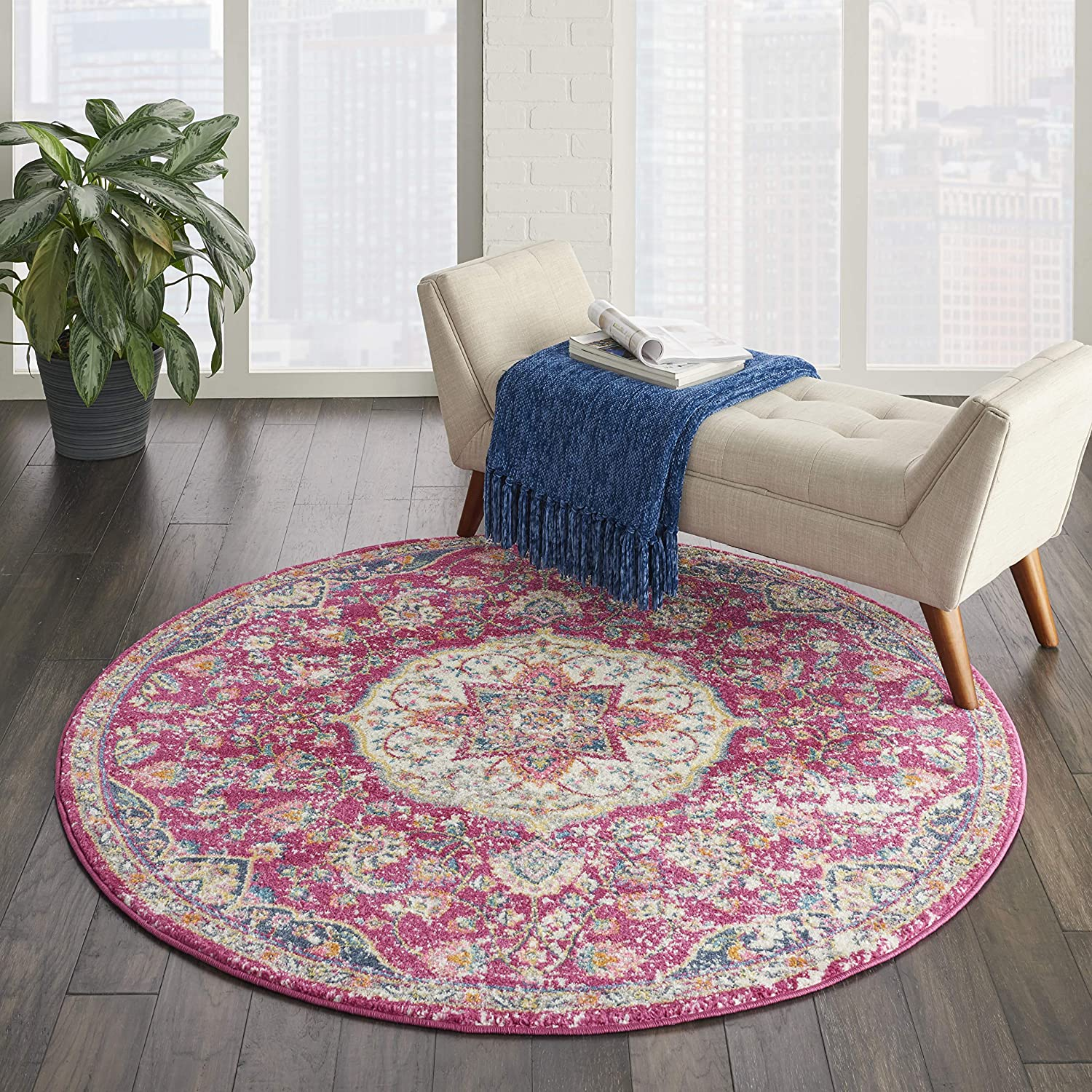 Safety and trust Max 66% OFF Nourison Passion Pink Traditional Persian Area Vintage 5'3