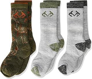 Grey Realtree Boys Merino Uplander Boot Socks Small