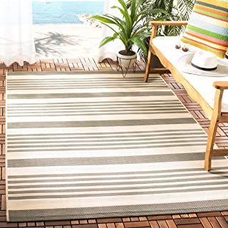 Safavieh Courtyard Collection CY6062-236 Grey and Bone Indoor/ Outdoor Area Rug (5'3