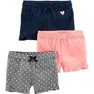Toddler Girls' 3-Pack Knit Shorts