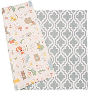 Baby Care Play Mat – Haute Collection (Large, Moroccan – Blue) – Play..