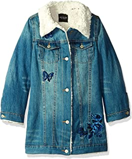 GUESS Girls Big Long Sleeve Floral Lace Jacket
