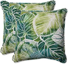 Pillow Perfect Outdoor | Indoor Key Cove Lagoon 16.5 Inch Throw Pillow, 16.5 X 16.5 X 5, Green