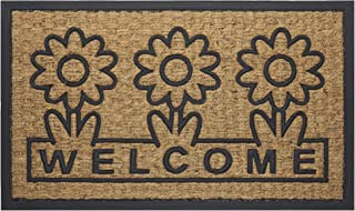 """Achim Home Furnishings COM1830DS6 Daisy Coco Door Mat, 18 by 30"""""""